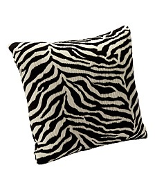"Siscovers Zebra Zen 16"" Designer Throw Pillow"