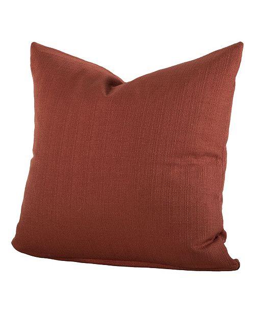 "Siscovers Linen Henna 26"" Designer Euro Throw Pillow"