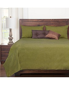 Harbour Willow Green 6 Piece Queen Duvet Set