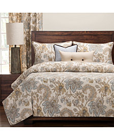 Siscovers Isabella Natural Floral 6 Piece Cal King High End Duvet Set