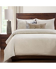 Pacific Sand Linen 6 Piece Cal King High End Duvet Set