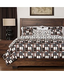 Plaid Men 6 Piece Cal King High End Duvet Set