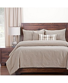 Burlap Natural Farmhouse 6 Piece Cal King High End Duvet Set