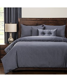 Pologear Gateway Denim Embossed 6 Piece Cal King High End Duvet Set