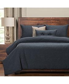 Belmont Deep Blue 6 Piece King Luxury Duvet Set