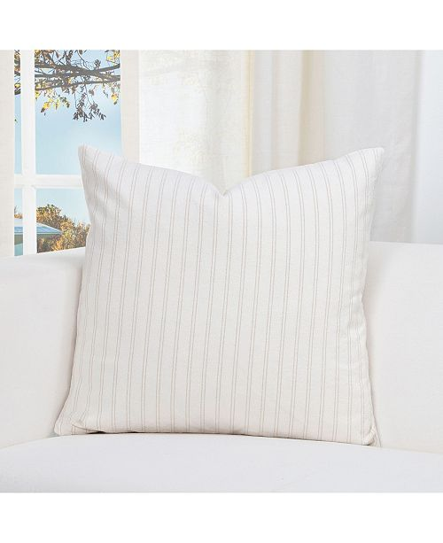 "Siscovers Ticking Stripe Barley 26"" Designer Euro Throw Pillow"