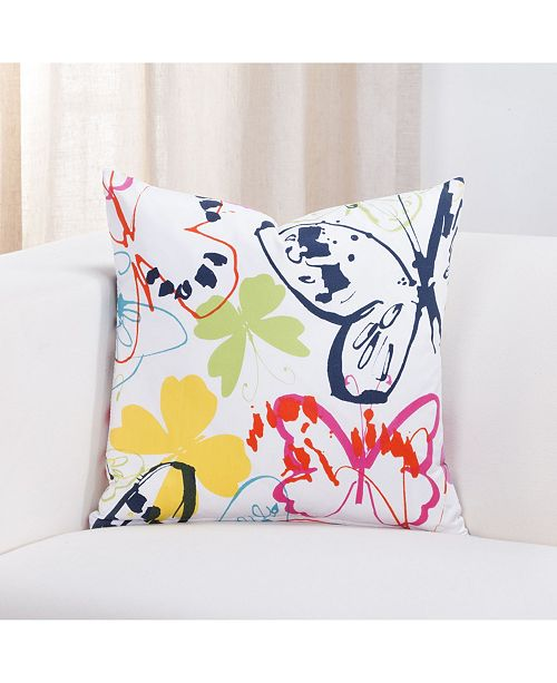 "Crayola Flutterby 20"" Designer Throw Pillow"