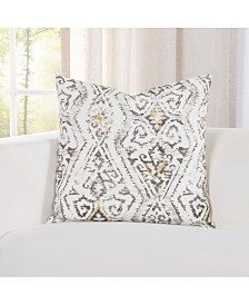 "Siscovers Indoor-Outdoor Magnolia Floral 26"" Designer Euro Throw Pillow"