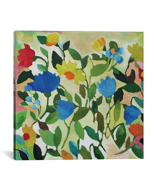 """iCanvas """"Blue Tulips"""" By Kim Parker Gallery-Wrapped Canvas Print - 18"""" x 18"""" x 0.75"""""""