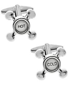 Sutton Silver-Tone Sink Tap Cufflinks