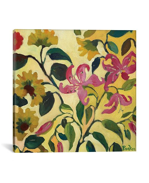 """iCanvas """"Pink Lilies"""" By Kim Parker Gallery-Wrapped Canvas Print - 18"""" x 18"""" x 0.75"""""""