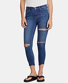 Free People Sunny Distressed Midrise Skinny Jeans
