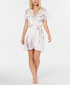 Blush Juliet Short Satin Robe