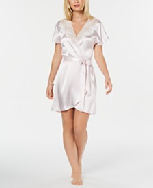 Linea Donatella Blush Juliet Short Satin Robe