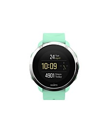 Suunto 3 Fitness Watch, Ocean Teal Silicone Band Stainless Steel Bezel with a Digital Dial