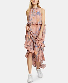 Free People Anita Cotton Printed Maxi Dress