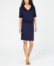 Trina Turk Ruched Blouson Jersey Dress