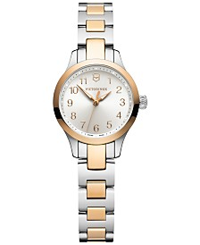 Victorinox Swiss Army Women's Alliance XS Two-Tone Stainless Steel Bracelet Watch 28mm