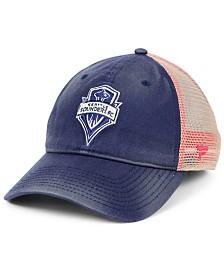 Authentic MLS Headwear Seattle Sounders FC Americana Trucker Snapback Cap