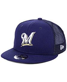New Era Boys' Milwaukee Brewers All Day Mesh Back 9FIFTY Snapback Cap