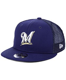 New Era Boys' Milwaukee Brewers All Day Mesh Back 9FIFTY Snapback Cap