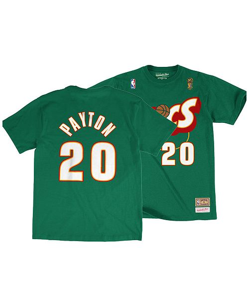 promo code 48bdb 7c14f Big Boys Gary Payton Seattle SuperSonics Hardwood Classic Player T-Shirt