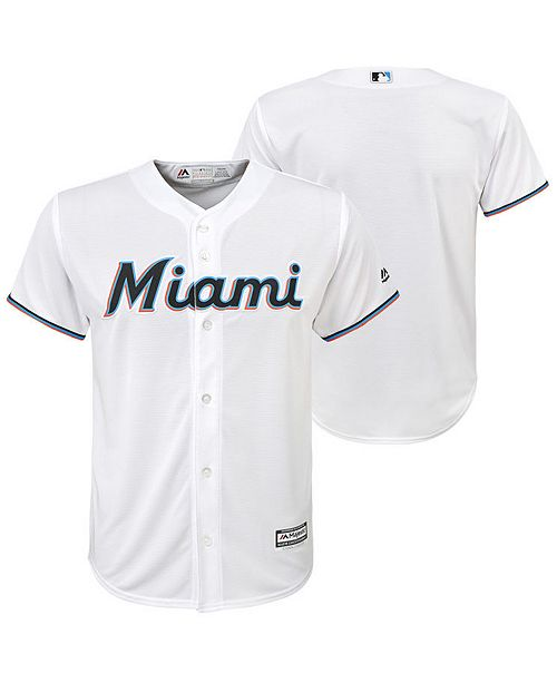 Majestic Big Boys Miami Marlins Blank Replica Jersey