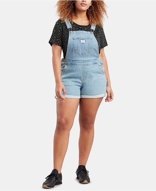 Levi's Trendy Plus Size Denim Shortall