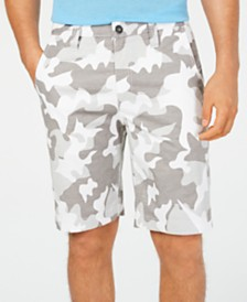 "I.N.C. Men's 10"" Chambray Camo Shorts, Created for Macy's"