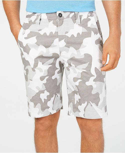 """INC International Concepts I.N.C. Men's 10"""" Chambray Camo Shorts, Created for Macy's"""