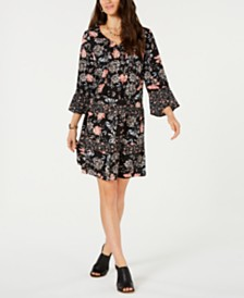 Style & Co Printed Tiered Dress, Created for Macy's