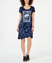 ce1e72c03db Style   Co Graphic-Print Tie-Dye Dress