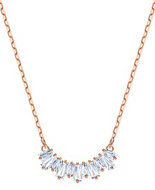 """Crystal Row Pendant Necklace, 14-7/8"""" + 2"""" extender"""
