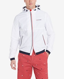 Tommy Hilfiger Men's Park Full-Zip Rain Jacket