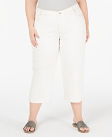 Eileen Fisher Organic Cotton Plus Size Cropped Jeans