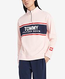 Men's Jonathan Regular-Fit 1/4-Zip Logo Sweatshirt