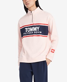 Tommy Hilfiger Denim Men's Jonathan Regular-Fit 1/4-Zip Logo Sweatshirt