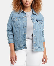 Levi's® Trendy Plus Size Denim Original Trucker Jacket