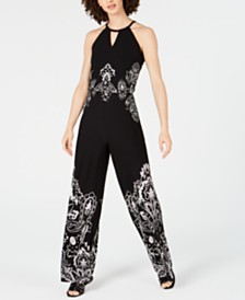 I.N.C. Keyhole Halter Jumpsuit, Created for Macy's