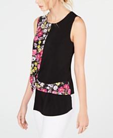 I.N.C. Twisted Asymmetrical Top, Created for Macy's