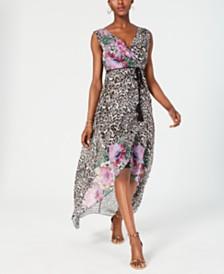 I.N.C. Sleeveless Wrap Maxi Dress, Created for Macy's