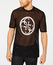 GUESS Men's Sandstorm Logo Graphic Mesh T-Shirt