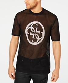 GUESS Men's Sandstorm Logo Graphic Mesh T-Shirt