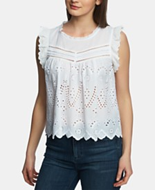 1.STATE Cotton Embroidered Top