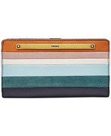 Fossil Liza Striped Slim Bifold Wallet