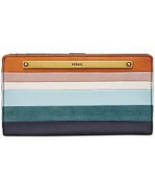 Fossil Liza Striped Slim Bifold Wallet