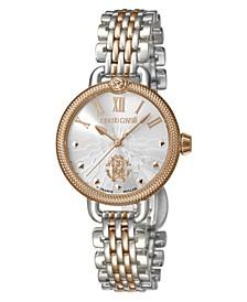 By Franck Muller Women's Swiss Quartz Two-Tone Rose Gold Stainless Steel Bracelet Watch, 30mm
