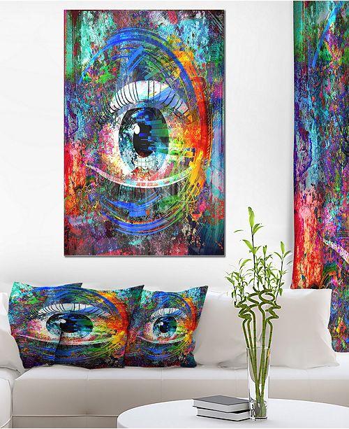 Designart Magic Eye Over Abstract Design Large Abstract Metal Wall Art 30 X 40