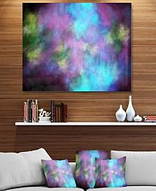 "Designart 'Perfect Blue Purple Starry Sky' Abstract Metal Wall Decor - 40"" X 30"""