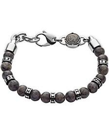 Men's Beaded Gray Labradorite Bracelet